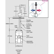 Смеситель F-HC3300С | Холодная и горячая питьевая вода
